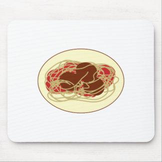 Spaghetti & Meatballs Mouse Pad