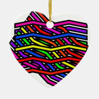 Spaghetti Multi Ceramic Heart Decoration