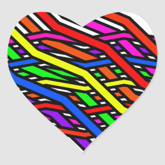Spaghetti Multi Heart Sticker