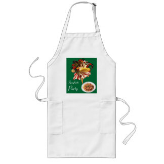 SPAGHETTI PARTY DANCE,ITALIAN KITCHEN AND TOMATOES LONG APRON