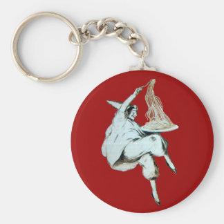 SPAGHETTI PARTY ITALIAN KITCHEN, RESTAURANT red Basic Round Button Key Ring