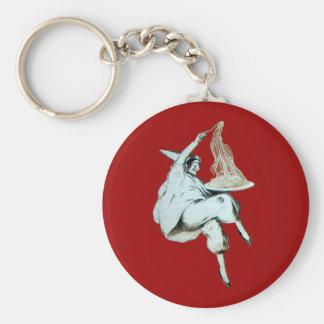 SPAGHETTI PARTY ITALIAN KITCHEN, RESTAURANT red Key Ring