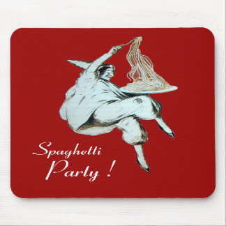 SPAGHETTI PARTY ITALIAN KITCHEN, RESTAURANT red Mousepads