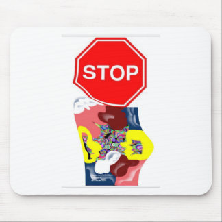 Spaghetti Stop Sign Mouse Pad