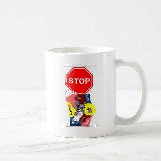 Spaghetti Stop Sign Basic White Mug