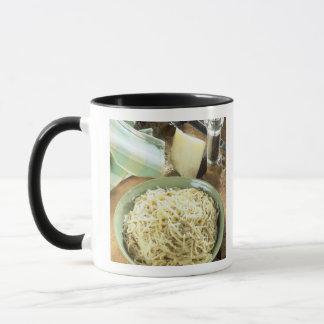 Spaghetti with Pecorino romano and black Mug