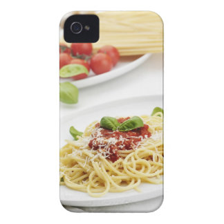 Spaghetti with tomato sauce and basil Case-Mate iPhone 4 cases