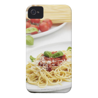 Spaghetti with tomato sauce and basil iPhone 4 Case-Mate cases