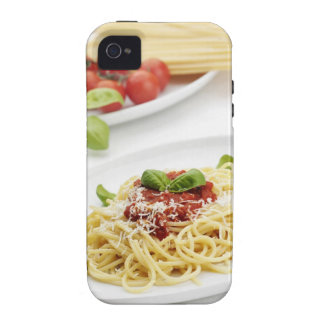 Spaghetti with tomato sauce and basil iPhone 4 cases