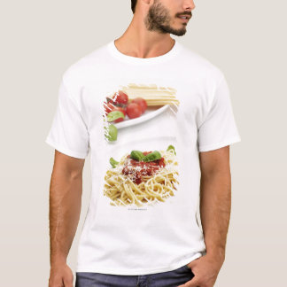 Spaghetti with tomato sauce and basil T-Shirt
