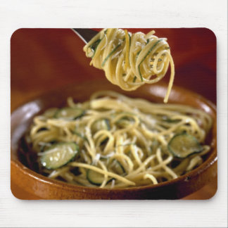 Spaghetti with zucchinis and lemon For use in Mouse Mat