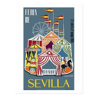 Spain 1960 Seville Festival Poster Postcard
