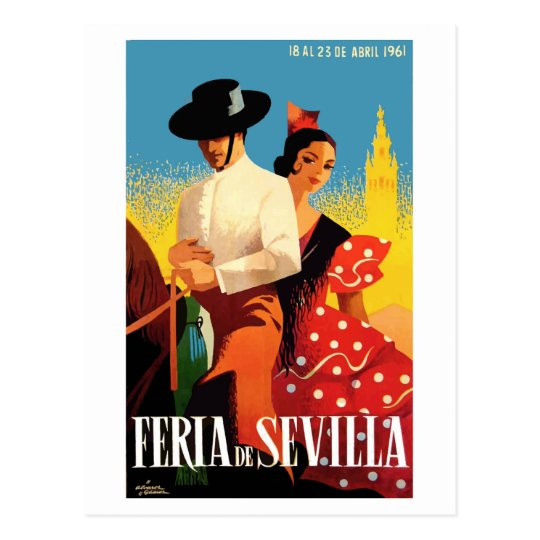 Spain 1961 Seville April Fair Poster Postcard