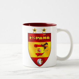 Spain 1964 2008 soccer futbol emblem shield Two-Tone mug