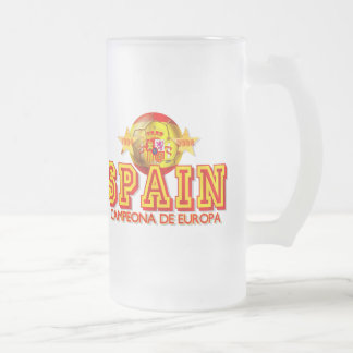 Spain 1964 and 2008 Champions of Europe gifts Frosted Glass Mug