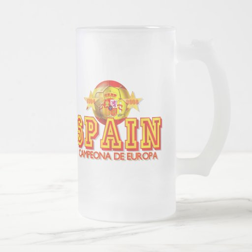 Spain 1964 and 2008 Champions of Europe gifts Mug