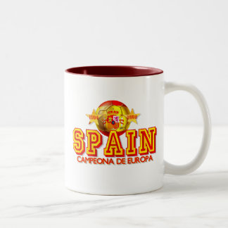 Spain 1964 and 2008 Champions of Europe gifts Two-Tone Mug