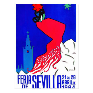 Spain 1964 Seville April Fair Poster Postcard