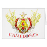 Spain 2010 Campeones (Tribal) Greeting Cards