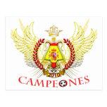Spain 2010 Campeones (Tribal) Postcard