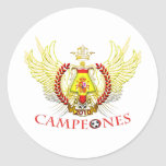 Spain 2010 Campeones (Tribal) Round Stickers