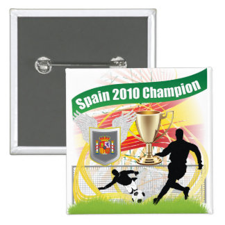 Spain 2010 Champion Pinback Buttons