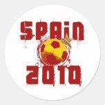 Spain 2010 classic round sticker