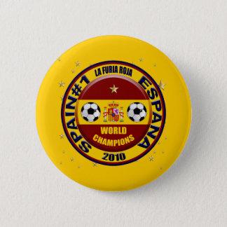 Spain 2010 World Champions Soccer Futbol 6 Cm Round Badge