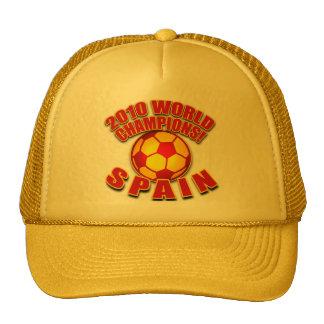 SPAIN 2010 WORLD CHAMPS Soccer Tshirts Trucker Hat