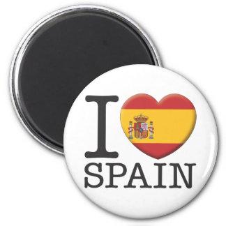 Spain 6 Cm Round Magnet