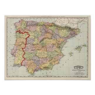 Spain and Portugal 14 Poster