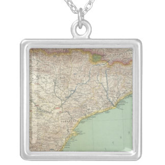 Spain and Portugal 2 Silver Plated Necklace