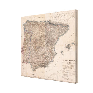Spain and Portugal 8 Canvas Print