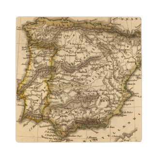 Spain and Portugal 8 Wood Coaster