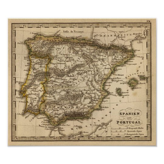 Spain and Portugal 9 Poster