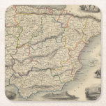 Spain and Portugal 9 Square Paper Coaster