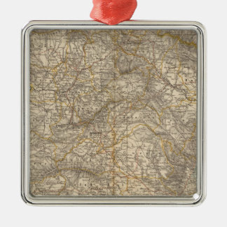 Spain And Portugal Atlas Map Christmas Ornament