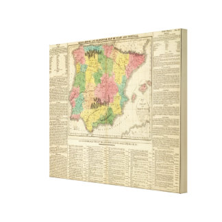 Spain and Portugal Chronology Map Canvas Print