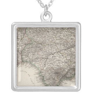 Spain and Portugal, four leaves Square Pendant Necklace