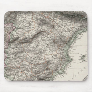Spain and Portugal Map by Stieler Mouse Mat