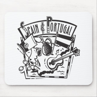 Spain and Portugal Mouse Pad
