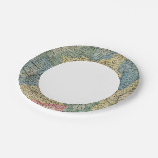 Spain and Portugal Paper Plate