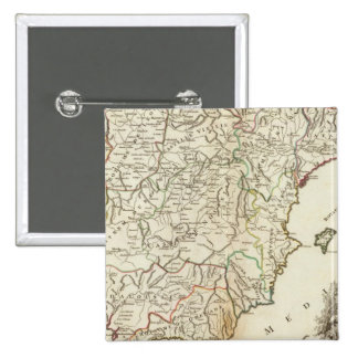 Spain and Portugal Postal Roads 15 Cm Square Badge