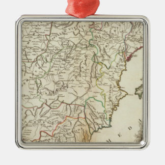 Spain and Portugal Postal Roads Silver-Colored Square Decoration