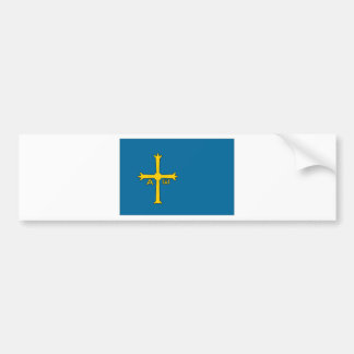 Spain Asturias Flag Bumper Sticker