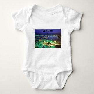 Spain Barcelona Night View (St.K) Baby Bodysuit