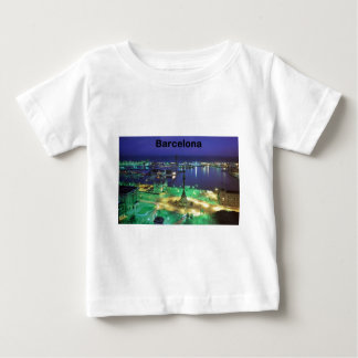 Spain Barcelona Night View (St.K) Baby T-Shirt