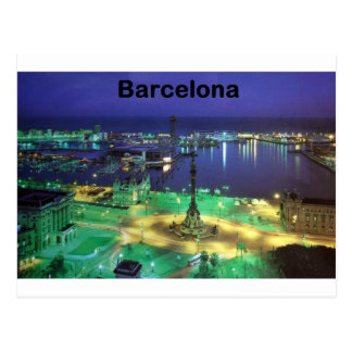 Spain Barcelona Night View St K Post Card