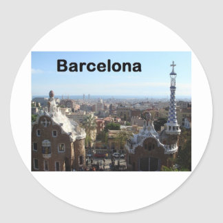 Spain Barcelona View (St.K) Classic Round Sticker