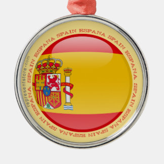 Spain Bubble Flag Christmas Ornament